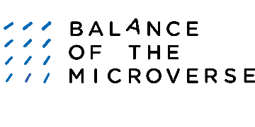 "Cluster of Excellence ""Balance of the Microverse"" logo"