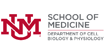 Cell Biology & Physiology, University of New Mexico, Health Sciences Center (HSC) logo