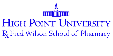 High Point University Fred Wilson School of Pharmacy logo