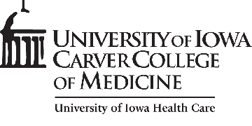 University of Iowa Carver College of Medicine Executive Dean's Office 200 CMAB logo